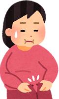 ハピネス鍼灸整骨院:産後太りで悩む女性のイラスト
